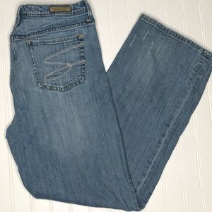 Seven7 straight leg distressed jeans, size 14